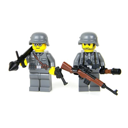German WW2 Soldiers Panzerfaust - Battle Brick Custom Minifigures