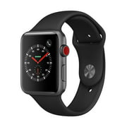 Refurbished Apple Watch Series 3 GPS + LTE - 42mm - Sport Band - Aluminum Case