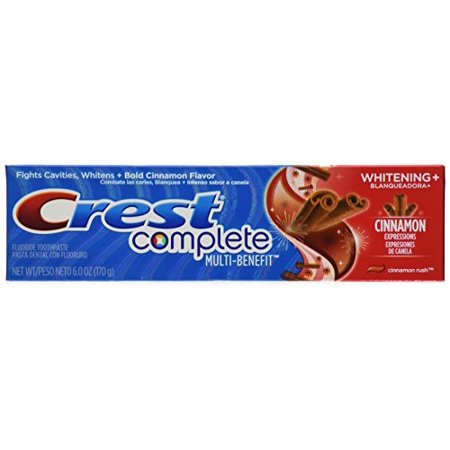 Anticavity Fluoride Toothpaste Gel (Crest Multi-Benefit Whitening Fluoride Toothpaste Anticavity Cinnamon Rush Gel )