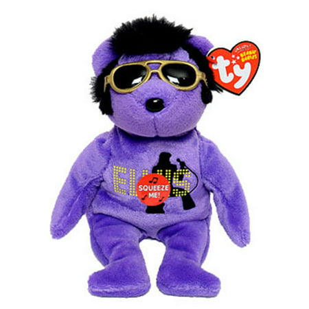 TY Beanie Baby - YOUR TEDDY BEAR the PURPLE Elvis Bear (Walgreen s  Exclusive) (8.5 inch) - Walmart.com c5b24f5e289
