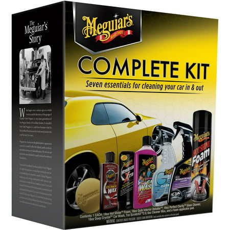 Meguiar S Complete Car Care Kit Essential Detailing G19900