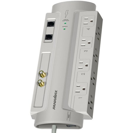 Panamax SP8-AV 8-Outlet Surge Protector with Coaxial and Telephone Protection