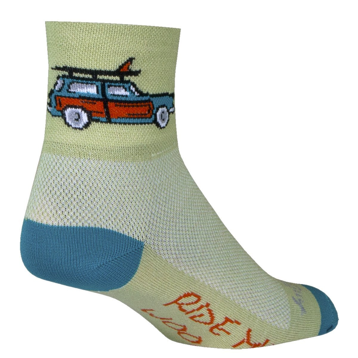 "Socks - Sockguy - Classic 3"" - Woody L/XL Cycling/Running"
