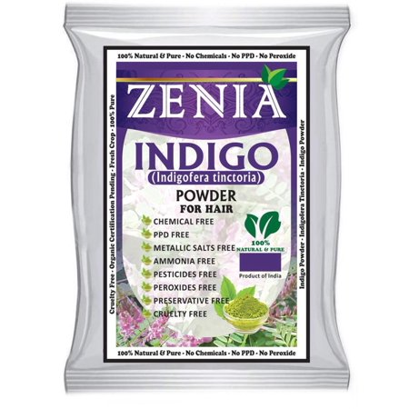 Indigo Powder (Indigofera Tinctoria) Hair / Beard Dye Color 500 grams, Pure Indigoferra Tinctoria Natural Indigo Powder for Hair By Zenia - Beard Dye Walmart