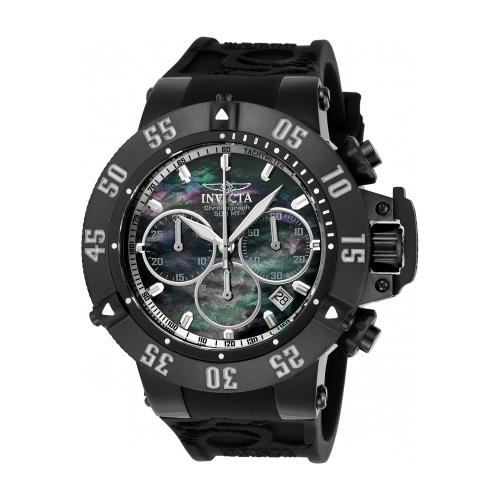 Invicta Men's Russian Diver Gmt Black And Grey Gen. Leath...