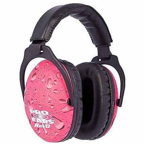 Pro Ears Standard Passive Hearing Protection ReVO, NRR 25, Pink Rain