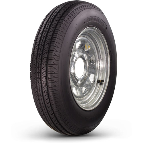 Greenball Towmaster 4.80-12 6-Ply Bias Trailer Tire and Wheel Assembly 5-on-4.5 Bolt Pattern, Galvanized Spoke
