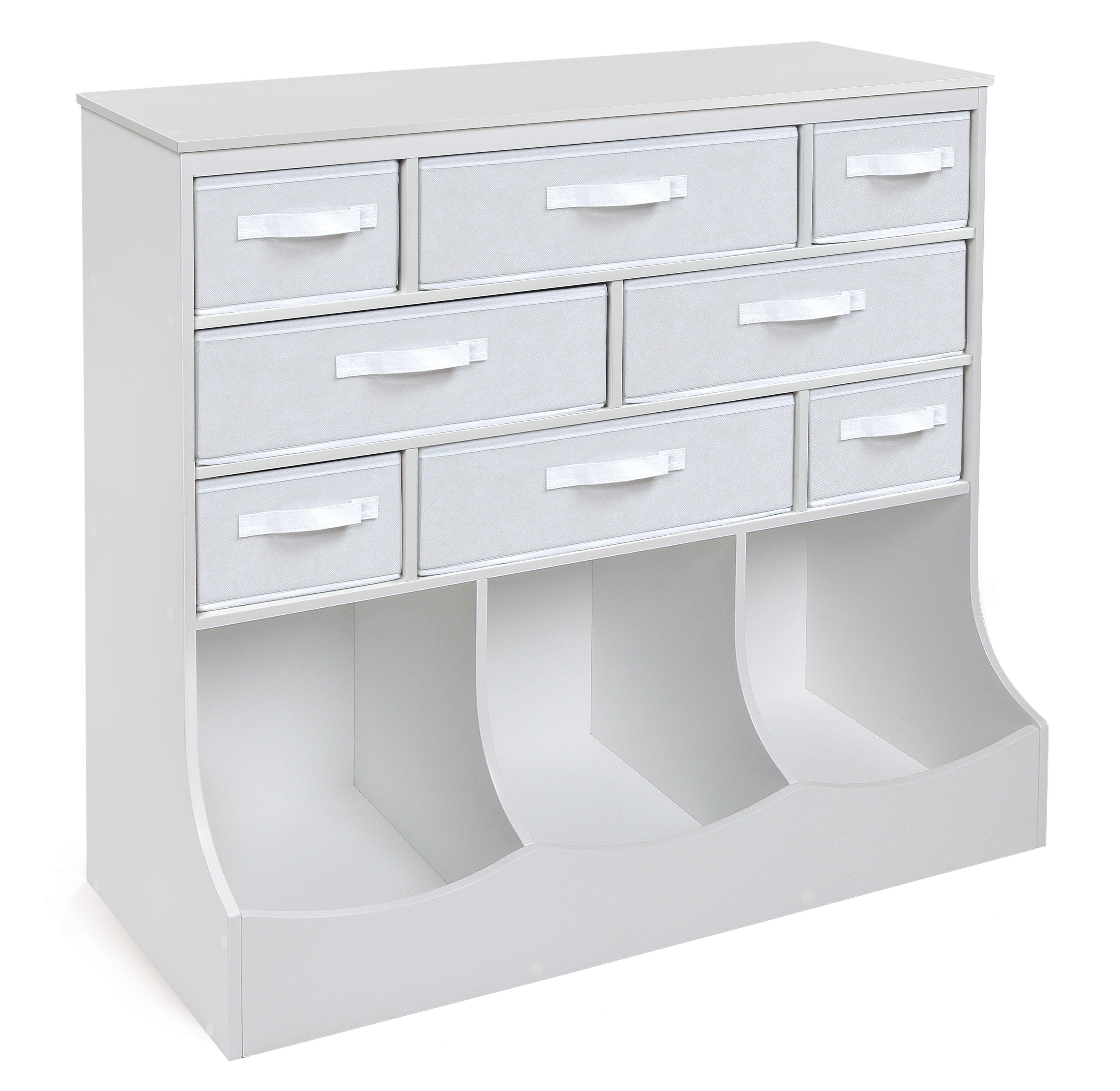 Badger Basket Storage Station with Eight Baskets and Three Bins White by Badger Basket