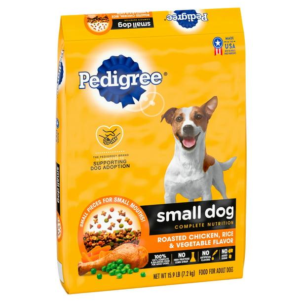 PEDIGREE Small Dog Complete Nutrition Adult Dry Dog Food Roasted Chicken, Rice & Vegetable Flavor, 15.9 lb. Bag