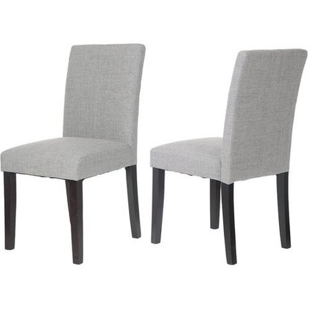 Merax Classic Fabric Dining Chairs with Solid Wood Legs Set ...