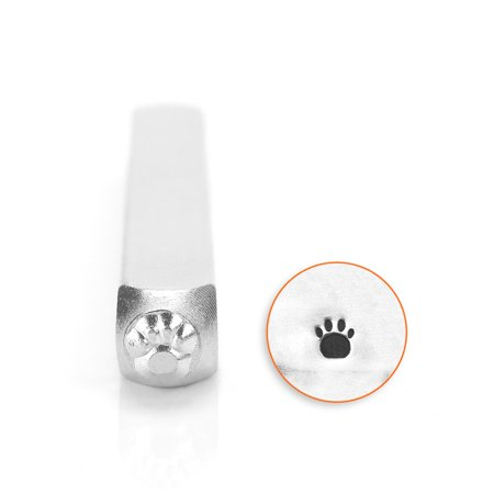 Paw Print (Small) Design Stamp, 3mm - Paw Print Stamp