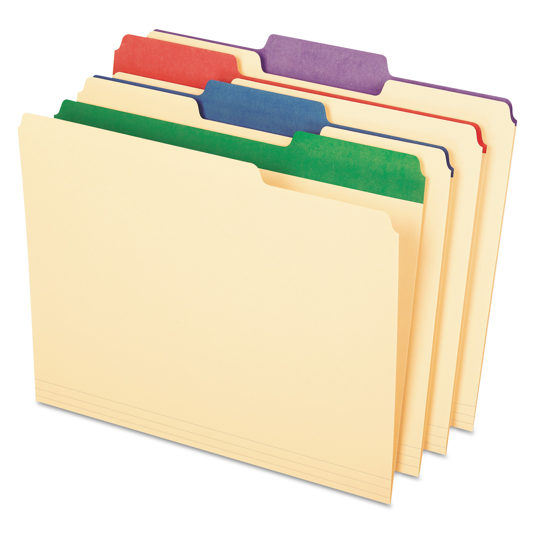 "Pendaflex Color Tab File Folders, 1/3 Cut, 3/4"" Exp., Letter, 50/BX -PFX84101"