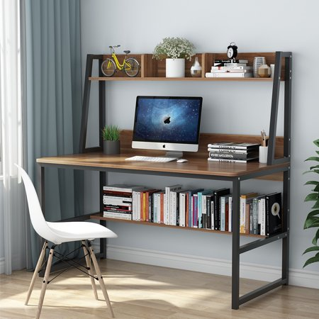 Tribesigns Computer Desk with Hutch and Bookshelf, 47\