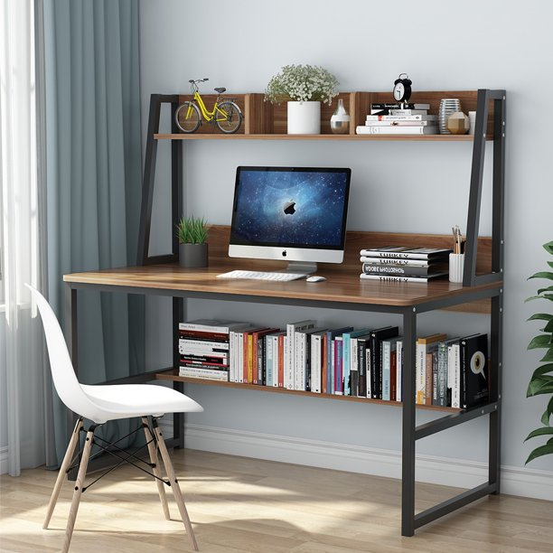 "Tribesigns Computer Desk with Hutch and Bookshelf, 47"" Home Office"