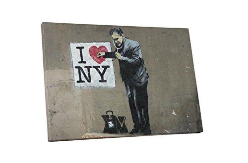 "I Love New York Archival Canvas Print 30/""x20/"" Banksy"