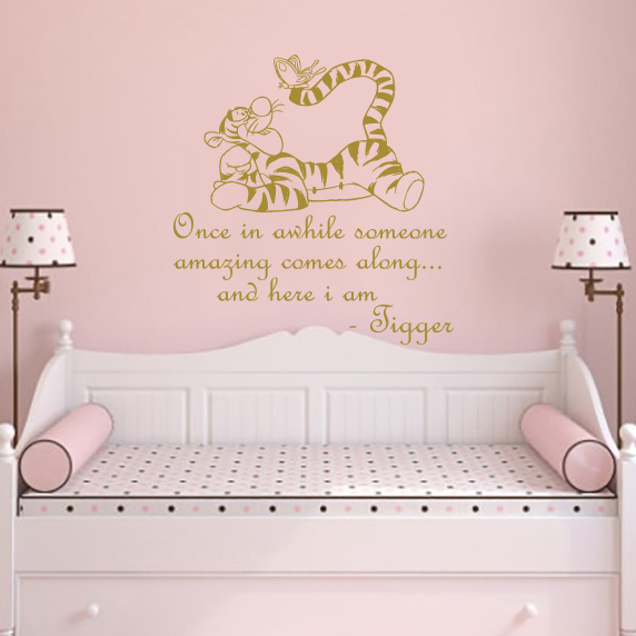 Classic Winnie The Pooh Wall Decals Quotes Tigger Nursery Decor