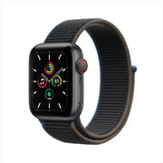 Apple Watch SE GPS, 44mm Space Gray Aluminum Case with Black Sport Band - Regular