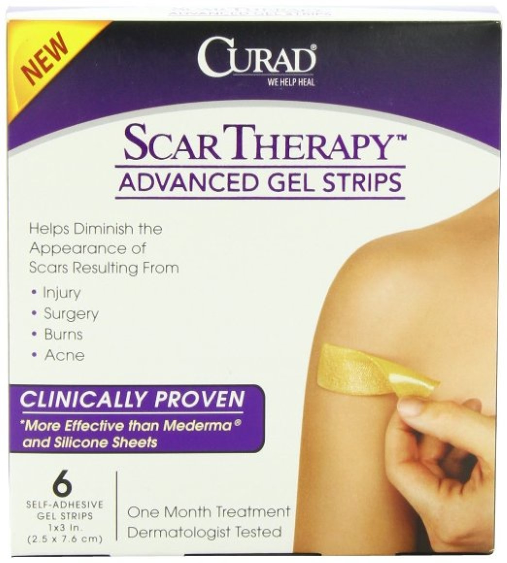 Curad Scar Therapy Advanced Gel Strips 6 Each (Pack of 2)
