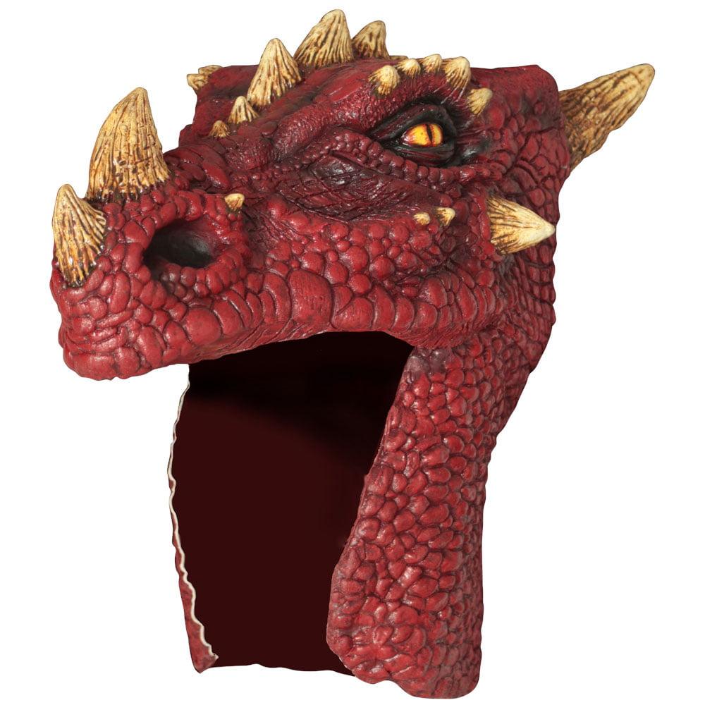 Adult Red Dragon Halloween Helmet
