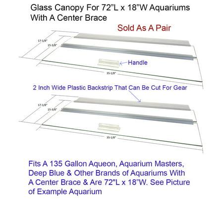 Aquarium Glass Canopy Two Piece Set For 135 Gallon And 150 Gallon High Aquariums 72