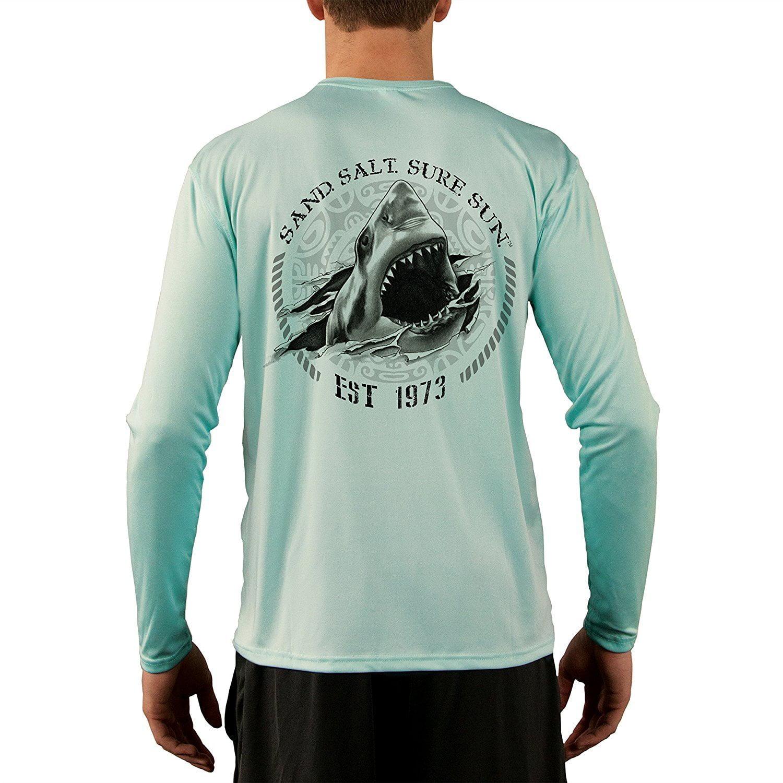 UV//Sun Protection Short Sleeve T-Shirt Jaws Men/'s UPF 50
