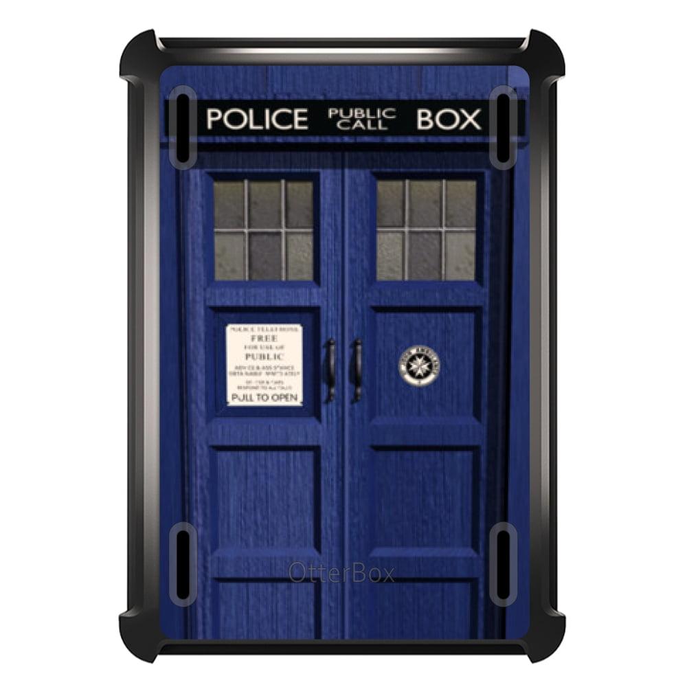 CUSTOM Black OtterBox Defender Series Case for Apple iPad Air 2 (2014 Model) - London Police Call Box TARDIS