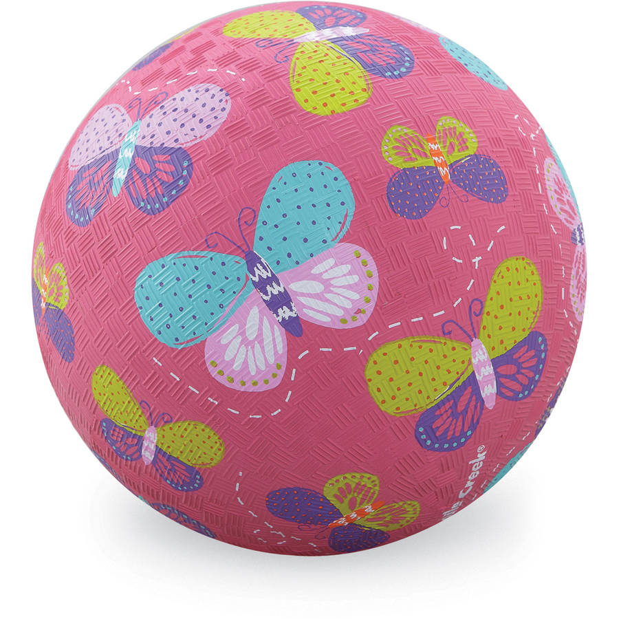 "Crocodile Creek Butterflies Playground Ball, 7"", Pink"