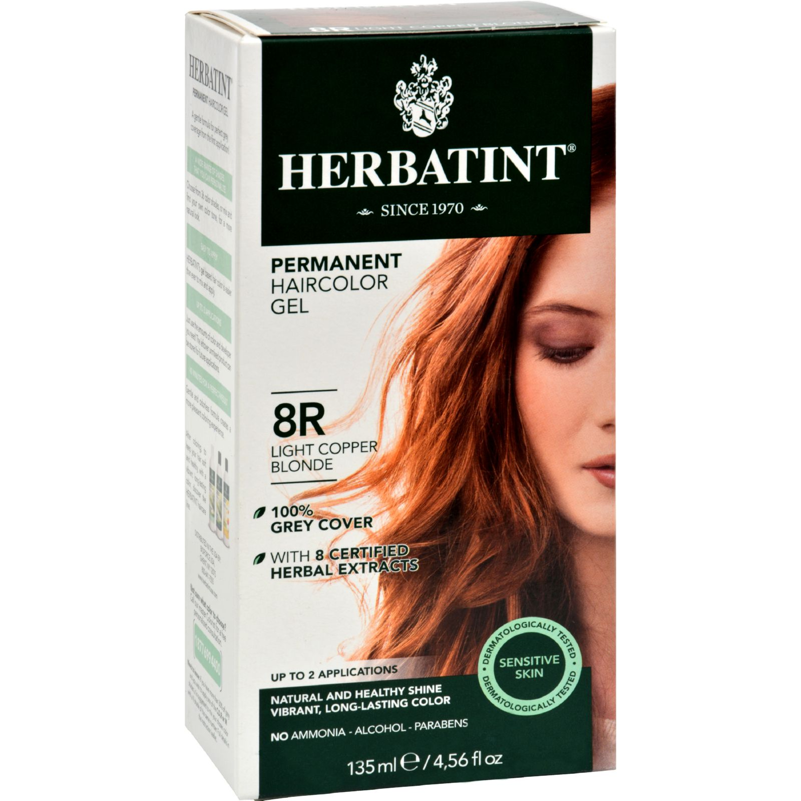 Herbatint 8R Light Copper Blonde, 4 Oz