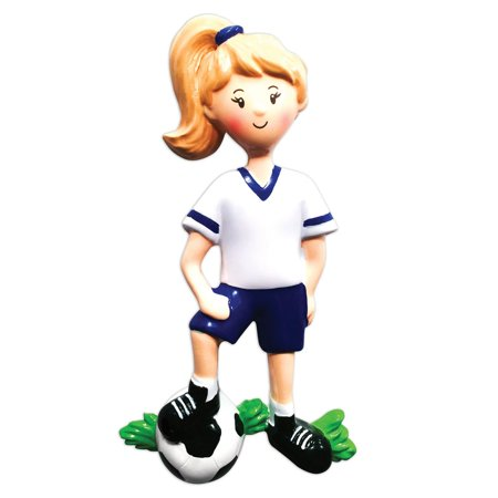 Sports Girl SOCCER Player Personalized Christmas Ornament DO-IT-YOURSELF