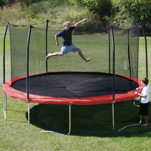 Skywalker Trampolines 15 Foot Sq Trampoline And Safety: Skywalker Trampolines 16' Round Trampoline And Enclosure