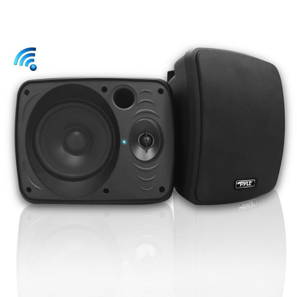 pyle pdwr54btb waterproof bluetooth 5 25 indoor outdoor speaker system 600 watt black