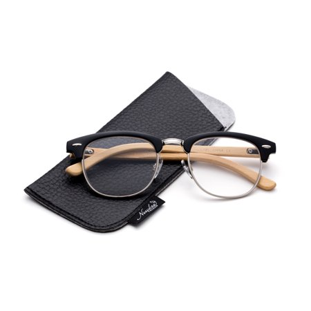 Quality Fashion Clummaster Reading Glasses for Men Retro Vintage Reading Glasses Horn Rimmed Half Frame Reading Glasses