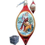 GDeBrekht 757-005P Led Santa Kids Cut Glass Ornament Drop