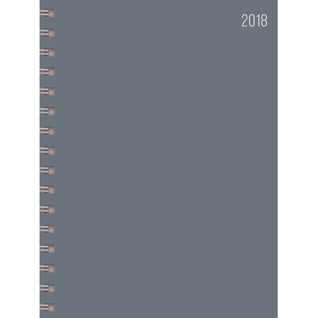 2018 Grey Medium Weekly Monthly Planner