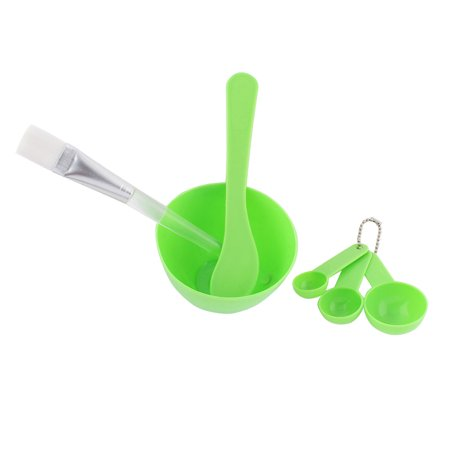 Measuring Stick (Home Plastic DIY Facial Mask Bowl Measuring Spoon Stick Brush Tool Green 6 in)