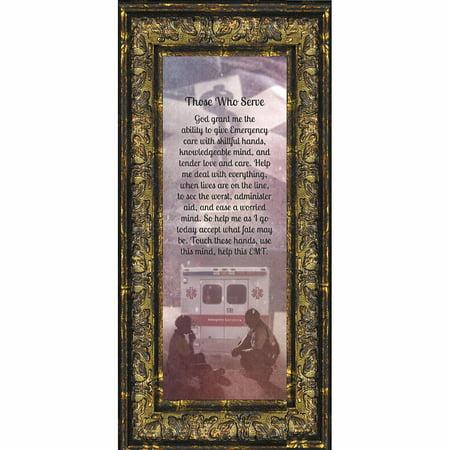 67ef0d0d34 EMT Prayer, Picture Frame for EMT Who Serves the Community, Picture Framed  Poem, 6x12 7364 - Walmart.com