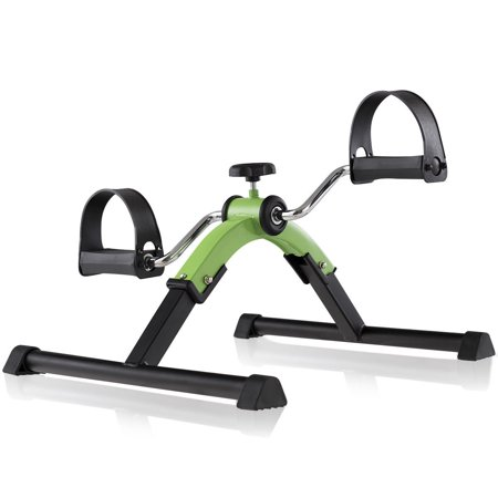 Goplus Portable Folding Pedal Exerciser Adjustable Resistance Arms Legs Rehabilitation