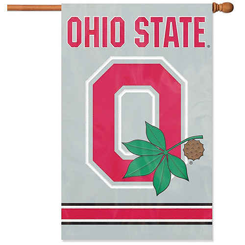"Party Animal Ohio State ""O"" Applique Banner Flag"