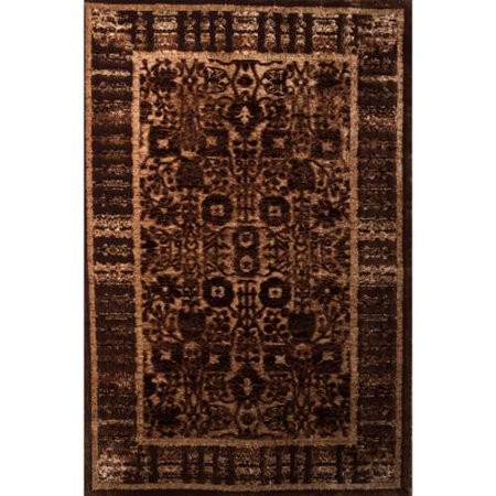 Linon  Platinum Collection Isphanan Brown Persian Modified Polyester Area Rug  2 X 3   Overstock