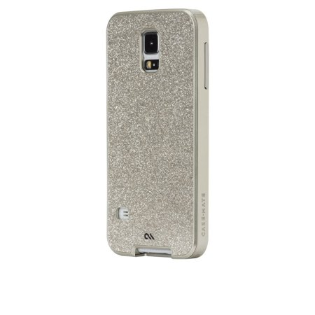 New in Box OEM Case-Mate Samsung Galaxy S5 Glam Champagne Glittered Cover Case ()