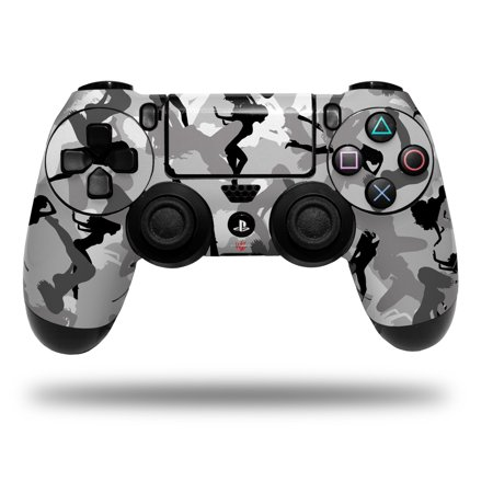 (Skin Wrap for Sony PS4 Dualshock Controller Sexy Girl Silhouette Camo Gray (CONTROLLER NOT INCLUDED))