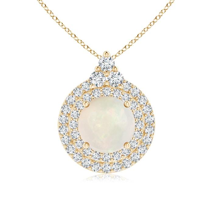 Diamond Rings For Sale Walmart: Round Opal And Diamond