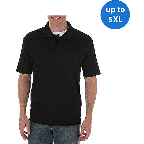 Wrangler Big Men's' Short Sleeve Solid Performance Polo