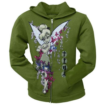 Tinkerbell - Japanese Butterflies Juniors Zip Hoodie ()