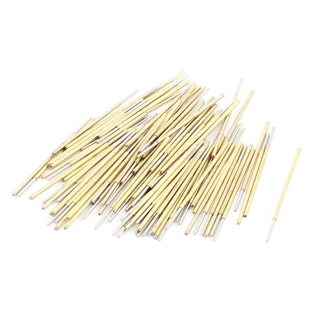PC75J 32mm Length Spherical Tip Spring Loaded Contact Test Probe Pin 100Pcs