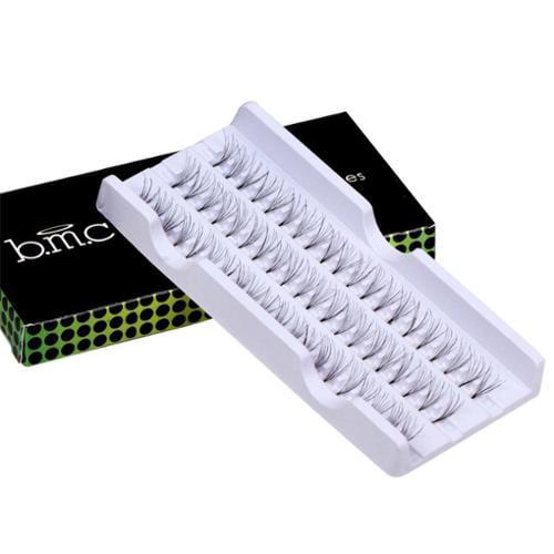 BMC 60 Long Individual Piece Black False Eyelashes Set - Au Natural Collection