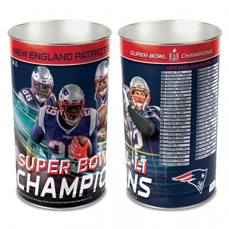 Super Bowl Champions New England Patriotswastebasket   Tapered 15  H