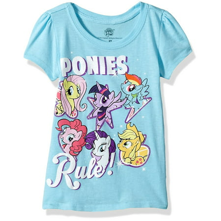 My Little Pony Toddler Girls' Best Friends Forever Short Sleeve Puff (Best Girl On Top Moves)