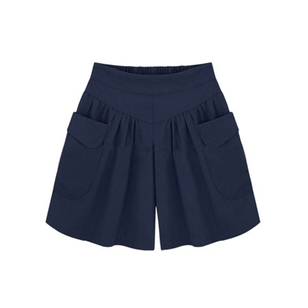 - Babula Women Summer Wide Leg Shorts Pants Plus Size