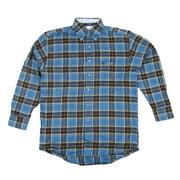 Wrangler Mens George Strait Long Sleeve Flannel Shirt MGS07BM (Small)